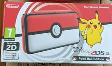 Nintendo New 2DS XL Pokeball Edition Console Red w/ Carry Case and Memory Card
