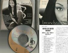 BRANDY Never Say Never BONUS RARE MONICA EDIT  JAPAN PRESSING CD USA Seller 1998