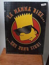 Targa metallica BURT SIMPSON 40x 30 del 1999 collectible collezione metal plate