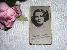 ANTIQUE MOVIE CARD NORMA SHEARER FROM J.J. NEWBERRY CO.