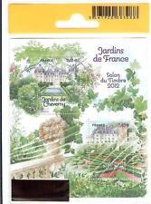 2012 - SALON DU TIMBRE - JARDINS DE FRANCE_CHEVERNY.VILLANDRY-BLOC.STAMP -F.4580