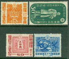 JAPAN  1946  75th Anniversary of Postal Service -  Sk# C97-100   MINT MH set