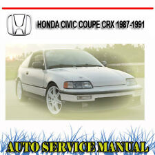HONDA CIVIC COUPE CRX 1987-1991 SERVICE REPAIR MANUAL ~ DVD