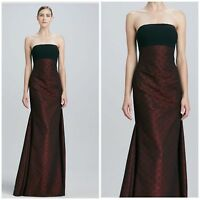 NWT DAVID MEISTER TWO TONE Strapless Crepe and Jacquard $656 SIZE 6,8,10,12,14