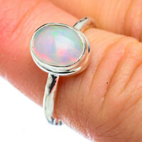 Ethiopian Opal 925 Sterling Silver Ring Size 5.25 Ana Co Jewelry R49627F