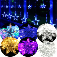 2M 168 LED Star Christmas Wedding Party Xmas Decor Curtain Fairy String Light