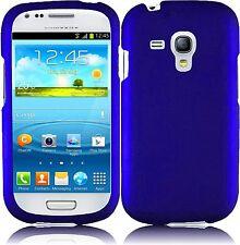 Hard Rubberized Case for Samsung Galaxy S3 Mini - Blue