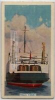 Railroad Train Ferry From Dover To Dunkirk 80+ Y/O Trade Ad Card