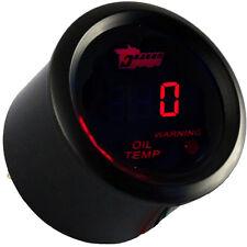 52mm KFZ Digital Öltemperatur Öl Temp Instrument Anzeige Rot Beleuchtet Licht