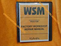 KUBOTA M9000 M9000DTMC M900TD-M Tractor SERVICE Workshop Binder