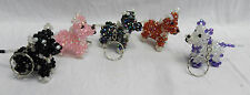 Hand Made Beaded Dog Key Ring - Assorted Colours - BNWT