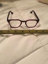 Vi Tace Buddy Holly Eyeglasees Burgundy Frame W Case