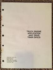 Caterpillar Truck Engine Application & Drive Train Specs