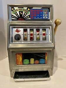 Vintage Waco Casino King Slot Machine Bank 25 Cent Coin Operated Works