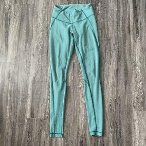 Lululemon Women's Wee Stripe Wunder Under Green Full Length Long Leggings Size 4