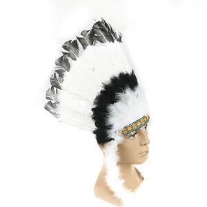 Indian Feather Headdress American War Bonnet Handmade Costumes Halloween DecSG