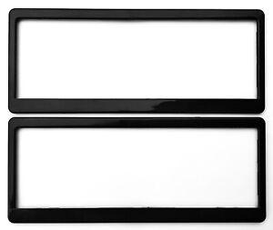 WA Number Plate Frames STANDARD Blank BLACK ONE PAIR