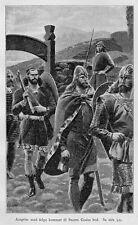 Viking Norse Warriors Aasgrim & Snorri Gooi, 7x5 Inch Print