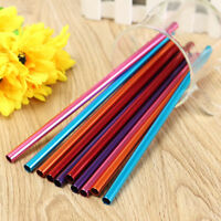 Reusable Eco Metal Drinking Straws  Stainless Aluminium cleaner Party straw