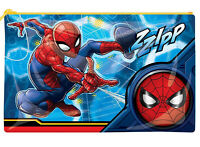Marvel Spiderman Spiderverse Shiny Plastic Flat Pencil Case Zzipp Back to School