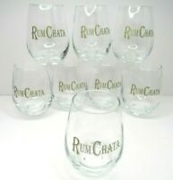 "8 RumChata 4"" Cocktail Clear Drink Glasses Caribbean Rum Horchata Cream Liqueur"