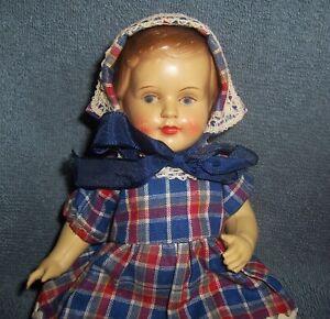 """Vintage 9"""" Denmark Celluloid Doll~Marked: J.K. KOGE~Cute Dressed Girl Doll~Parts"""