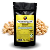 Phosphatidylserine Capsules 50% - 250mg - 2.5x Stronger w/ Choline Supplement
