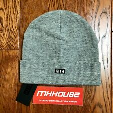 New KITH Kids Classic Box Logo Beanie Cap Grey Gray supreme FW20 2020 Unisex