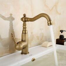 Antique Brass 360°Swivel Spout Bathroom Faucet Single Handle Basin Mixer Tap