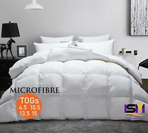 HOTEL QUALITY 100% MICROFIBER DUVET QUILT 4.5, 10.5, 13.5, 15 Tog Available