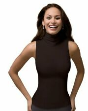 SPANX On Top and in Control Chic Sleeveless Shaping Turtleneck Large,Bittersweet