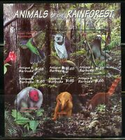ANTIGUA ANIMALS OF THE RAINFOREST  SHEET  MINT NEVER HINGED