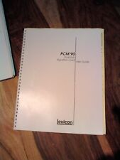 Lexicon Manual - PCM90 Dual Algorithm Card