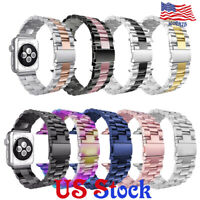 Stainless Steel Replacement Watch Band Belt Strap For Apple Watch 3 2 1 38/42mm