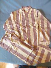 Vintage Men's 40s or 50s Weldon Purple Stripped Pajamas PJ's
