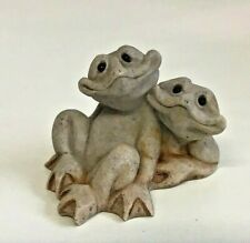 More details for quarry critters frogs fric & frac figure ornament second nature designs