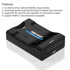 Portable Mini HD 1080P HDMI To SCART Video Audio Composite Converter Adapter