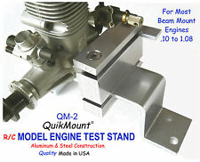 RC MODEL ENGINES TEST STAND  QuikMount QM2  for most Beam Mount .10 to 1.08 eng