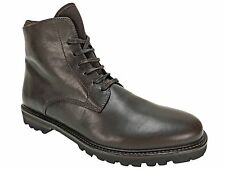 Theory Men's Timber Brushed Calf Leather Boots Brown Size 9.5 M