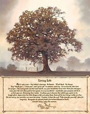 Living Life by Bonnie Mohr Inspirational Sayings Tree Print Poster 12x16