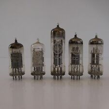 5 LAMPES TUBES PHILIPS MINIWATT VALVO