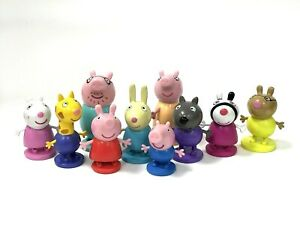 PEPPA PIG CAKE TOPPERS 10 PLASTIC FIGURES UK STOCK BRAND NEW FREE P+P