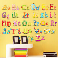 Children's Bedroom Wall Sticker English Alphabet - Capital & Lower-case Letters