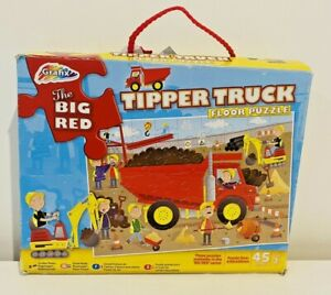 Floor Jigsaw Puzzle The Big Red Tipper Truck Grafix 45 pieces 3 Years +