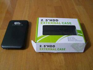 "USB 3.0 External Hard Drive Enclosure 2.5"" SATA HDD SSD Case Housing."