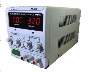 Alimentatore Stabilizzato Da Banco Trasformatore Corrente Fino a 30V e 5A