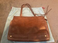 Hobo International Tote Shoulder Handbag Brown Leather Large Multi Compartment