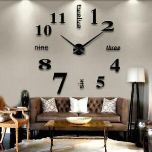 3D Reloj de Pared Moderno Grande Para Decoraciones.de Hogar Reloj de Pared Plat