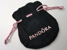 European Bead Pandora Jewelry Black Velvet w/ Pink Strings Anti-tarnish Pouch