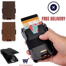 Metal Wallet Tactical Card Holder Slim Wallet Leather Card Id Holder 2020